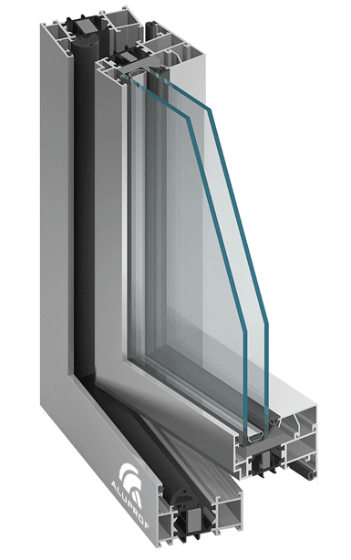 MB-70HI Raam-deursysteem met verhoogde thermische isolatie